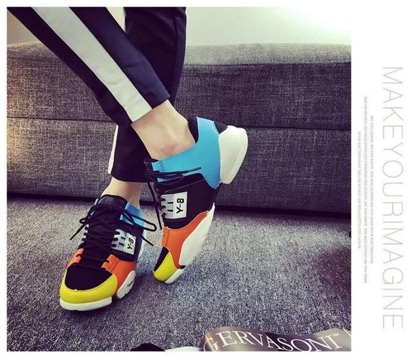 《澤米Jammy》歐洲站權志龍同款黑武士忍者鞋休閒運動鞋透氣防臭增高男鞋(全館二件免運)