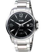STAR 躍動時刻藍寶石水晶時尚腕錶-黑 1T1407-231S-D