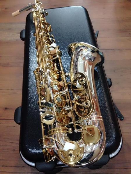 凱傑樂器 G1 CUSTOM ALTO SAX 中音 薩克斯風 管身鍍銀 按鍵金