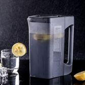 涼水壺 耐熱冷水壺家用塑料涼水壺果汁壺扎壺耐高溫大容量茶壺涼水杯 米蘭街頭IGO