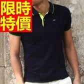 POLO衫短袖男裝上衣-典型走秀款簡約率性純棉質2色57p7【巴黎精品】