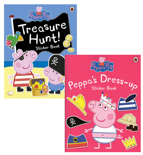 【粉紅豬小妹貼紙書】PEPPA PIG STICKER /2本合購 (PEPPA DRESS UP+TREASURE HUNT)