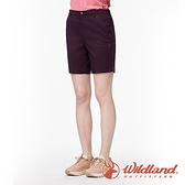 【wildland 荒野】女 彈性抗UV五分短褲『黑莓』0A91381 戶外 休閒 運動 露營 登山 騎車