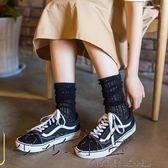 感恩聖誕 長統襪日系薄款堆堆襪鏤空復古時尚鬆口
