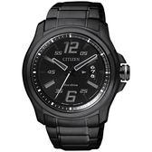 【均一價$6180】CITIZEN Eco-Drive 光動能鋼鐵競速運動風格腕錶-黑/42mm AW1354-58E