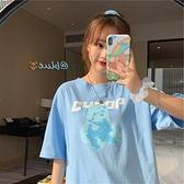 超火ins夏季短袖女T恤2021新款韓版小熊潮原宿風學生bf寬鬆上衣服 嬡孕哺 免運