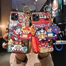S10/S10e/S10 Plus保護殼 新年財神三星手機殼 掛飾SamSung Note 10 Plus手機套 S8/S9/N8/N9三星保護套