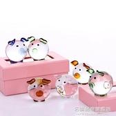 創意可愛透明水晶球玻璃豬櫃臺擺件小裝飾小朋友同學生日禮物禮品 NMS名購居家