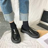 娃娃鞋 2018秋季新款日系chic小皮鞋女原宿風一腳蹬大頭娃娃鞋復古學生鞋 99免運 萌萌