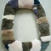 秋冬季純羊毛加厚加大馬桶墊坐便墊羊毛馬桶坐墊皮毛一體粘貼式 雜貨鋪