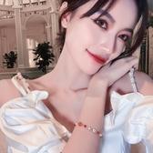 生日禮物 花瓣甜甜草莓手鍊仙氣手環韓版閨蜜手鐲 情人節禮物