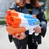 潑水節兒童水槍玩具成人漂流水搶大號男孩寶寶抽拉式高壓噴水槍呲 英雄聯盟igo