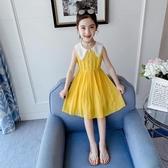 女童洋裝 夏裝2020新款兒童夏季雪紡童裝裙子女孩7歲洋氣公主裙