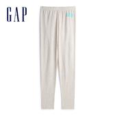 Gap女童 Logo棉質彈力緊身褲 539720-燕麥色