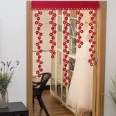店長推薦 新年裝飾品創意門窗布置用品新春桃花門簾掛飾無紡布過年春節掛件