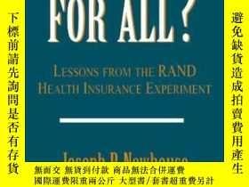 二手書博民逛書店Free罕見For All?: Lessons From The Rand Health Insurance Ex