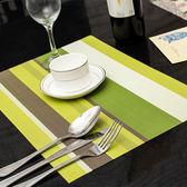 餐墊防滑西餐墊雙色歐式PVC隔熱墊餐桌墊盤墊碗墊水洗速干4張