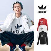 【GT】Adidas Originals 黑白紅 大學T 衛衣 純棉 運動 休閒 長袖 上衣 愛迪達 三葉草 基本款 Logo