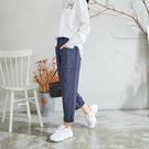 【慢。生活】簡約造型口袋棉質蘿蔔褲 88...