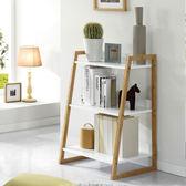 實木置物架客廳收納儲物書落地臥室小書架歐式簡約多層鞋架花架WY 萬聖節禮物