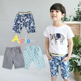 童裝 短褲 藍色迷彩/直紋/滿版船錨口袋鬆緊短褲(共3款)