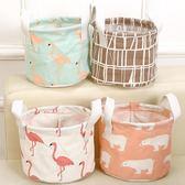 【生活夯貨】家居 布藝 防水 收納筐 手提式 棉麻 收納 整理籃 可愛 可折疊 置物筐