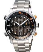 MIDO 美度 Multifort 先鋒系列60小時動力潛水計時機械手錶- M0059141106000