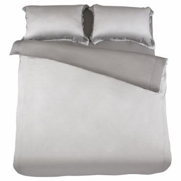 HOLA 雅緻天絲素色床包 雙人 暖褐