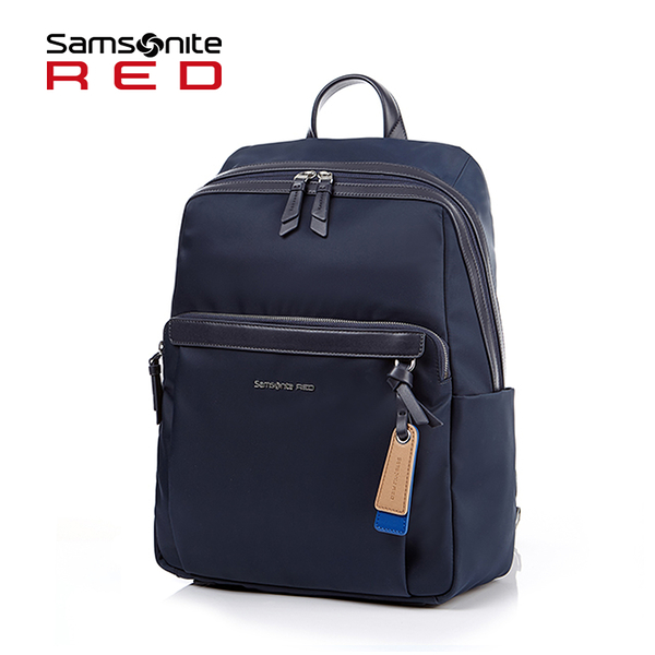 Samsonite RED【BELLECA GF7】輕商務14吋筆電後背包 背後隱藏口袋 可插掛 廣告款