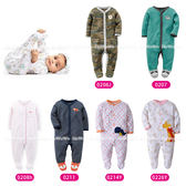 長袖包腳兔裝 寶寶前開長袖連身衣/包腳兔裝 LZ2989 好娃娃