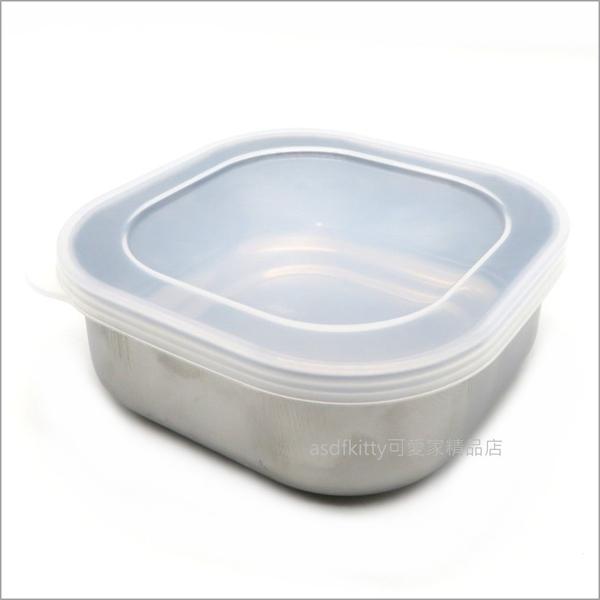 asdfkitty可愛家☆日本ECHO 不鏽鋼正方型保鮮盒/水果盒/便當盒/收納盒-日本製