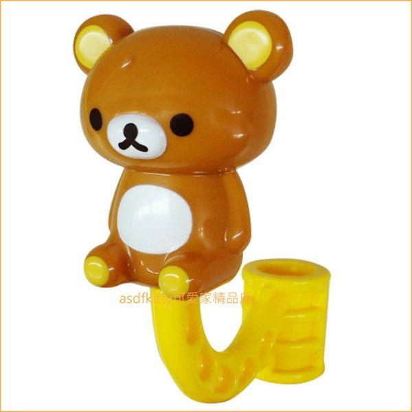 asdfkitty可愛家☆日本san-x 拉拉熊全身立體造型車用後座掛勾-日本正版商品