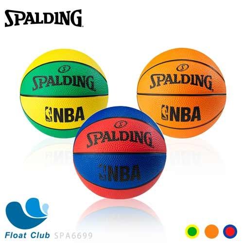 SPALDING 斯伯丁 NBA NO.1 迷你小球 橡膠籃球 1號 藍紅 / 黃綠 / 專業橘 SPA6699 原價450元