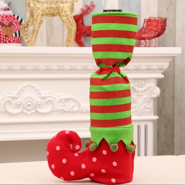 聖誕飾品 聖誕老公公長靴酒瓶禮品袋 紅酒雪人  慶祝【PMG300】123OK