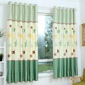 窗簡約現代短簾半遮光小窗簾布料臥室陽臺飄窗【快速出貨特惠八五折】