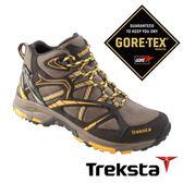 Treksta EVOLUTION 161 MID 女 Gore-Tex 防水中筒登山鞋 (鞋底加強防滑) 黃卡其 |戶外|高筒健行鞋 KR16GW