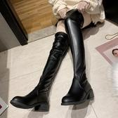 膝上靴 ins瘦瘦靴秋季過膝長靴女2020新款增高小個子長筒靴高靴皮靴