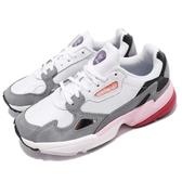 【六折特賣】adidas 老爹鞋 Falcon W 灰 粉紅 麂皮鞋面 復古 老爺鞋 運動鞋 女鞋【ACS】 CG6214