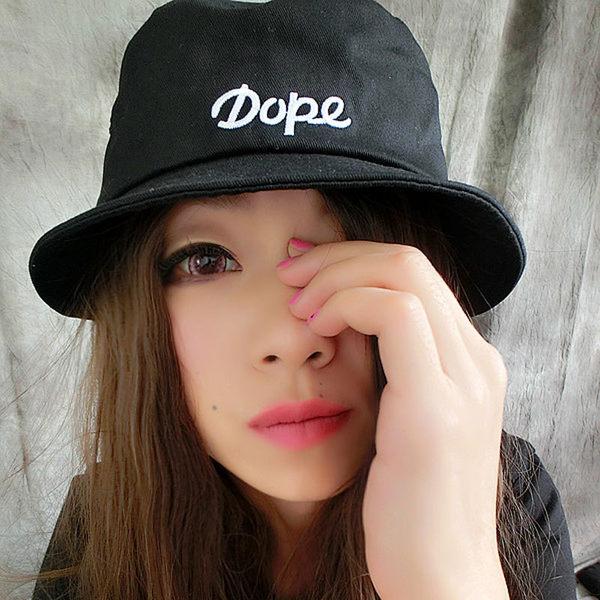 漁夫帽 歐美 個性dope字母刺繡男女漁夫帽 丹寧帽 遮陽帽【Ann梨花安】