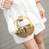 圓球鏈條包-時尚麻繩流蘇珍珠球女晚宴包73iy2【時尚巴黎】