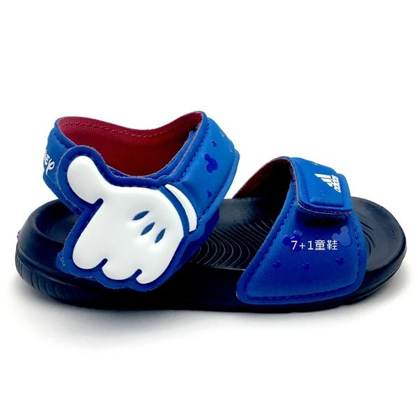 《7+1童鞋》 ADIDAS Disney 聯名款 AltaSwim I 米奇米妮 米奇手套 7316 藍色
