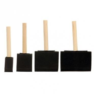 高級泡棉刷4支組 -木柄
