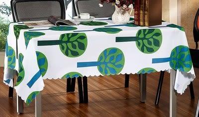 綠色盎然滌綸桌墊 【藍星居家】