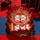 結婚果盤喜慶紅喜盤家用客廳茶幾塑料雙層喜糖干果零食盤【輕派工作室】