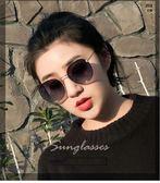 韓國粉色圓形墨鏡女潮復古原宿風街拍圓臉大臉顯學生太陽鏡 交換禮物