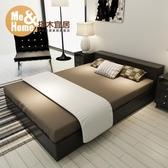 實木排骨架床現代簡約主臥室單雙人1.5米1.8米榻榻米床wy 快速出貨