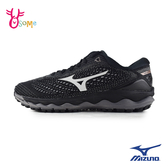 Mizuno女慢跑鞋 WAVE SKY3美津濃跑步鞋 大童鞋 訓練鞋 輕量 耐磨運動鞋 黑 I9232◆OSOME奧森鞋業