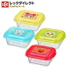 asdfkitty*日本LEC麵包超人4入迷你方型保鮮盒-60ml-可微波-放副食品-零食盒-日本正版商品