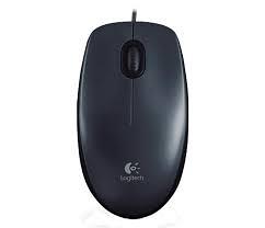 羅技M90有線滑鼠USB黑灰