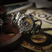 蒸氣朋克搖滾工業風手錶電子錶歐美創意手錶男潮流正韓個性 運動WY【雙12 聖誕交換禮物】
